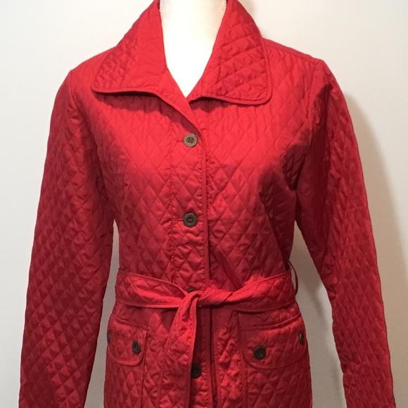Carole Little Jackets & Blazers - Carol Little Red Belted Jacket Coat Size L